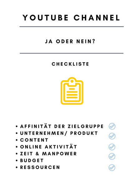 Checkliste YouTube Channel